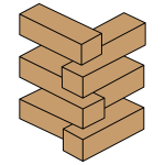 Vector illustration of stacked bricks