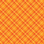 Orange Gingham Checkered Background