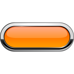 Thick grayscale border orange button vector illustration