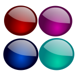 Vector illustration of set of glossy circles