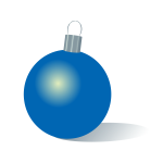 Christmas bauble blue color