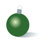 Christmas bauble green color