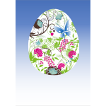 Vector image of an Easter egg with floral pattern