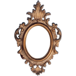 Ornate Frame Circular Shape