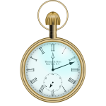 Classic Roman pocket watch vector image