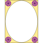 Oval frame with decorations