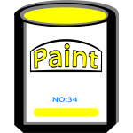 PAINT CAN YELLOW