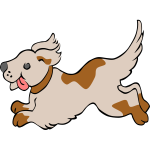 Running dog vector clip art