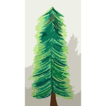 Painted Christmas Tree untraced Vectorized 2016122033