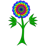 Colorful paisley flower