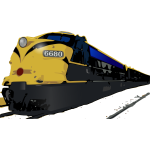 Train vector clip art graphics