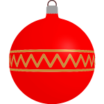 Patterned red bauble