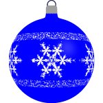 Blue Christmas tree ball