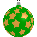 Green ball with stars