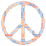 Peace Sign Word Cloud No Background