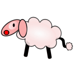 Sheep caricature