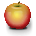 Vector illustration of light opacity apple