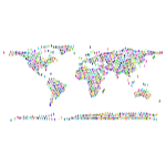 People World Map Prismatic