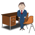 Teacher / Manager vector image