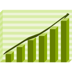 Performance graph green vector illustration