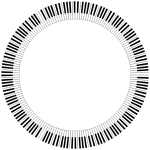 Piano Keys Circle Large