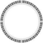 Piano Keys Circle Medium