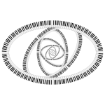 Piano Keys Ellipse Vortex