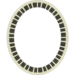 Piano Keys Frame Ellipse-1595597790