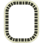 Piano Keys Frame Rectangle Inverted
