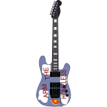 Vector clip art of guitar