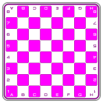 Pink Chessboard by DG RA