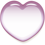 Pink shiny heart