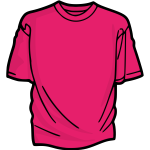 Pink t-shirt vector clip art