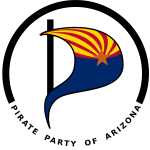 Vector image of logo of Pirate Party of Arizona