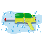 Splash water gun