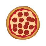Pepperoni pizza vector illustration