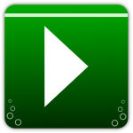 Green icon for music players