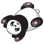 Playful Cartoon Panda