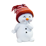 Playful Snow Man