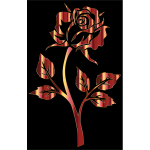 Polished Bronze Rose Silhouette