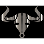 Polished Chrome Bull Icon