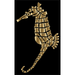 Polished Copper Stylized Seahorse Silhouette