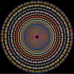 Polychromatic Colorful Direction Circle Vortex Variation 2