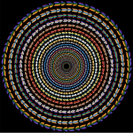 Polychromatic Colorful Direction Circle Vortex