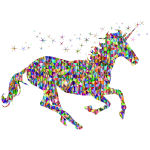Polychromatic Low Poly Magical Unicorn