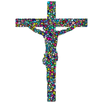 Polyprismatic Tiled Crucifix With Background
