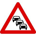 Possible road queues traffic sign vector image