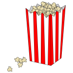 Movie popcorn bag vector image
