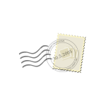 Vector image of post office mail stamp