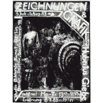 Announcement poster for German art exhibit